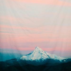 "Society6 Pastel Mountain Peak Tapestry 50"" X 60"""